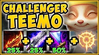 CHALLENGER BURST TEEMO BUILD GIVES +100% ATTACK SPEED?? TEEMO S9 TOP GAMEPLAY! - League of Legends