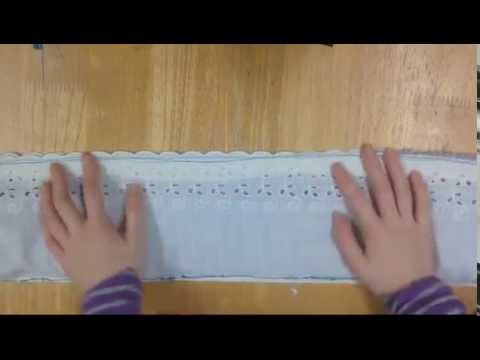 How to make a pillowcase - burrito or sausage method