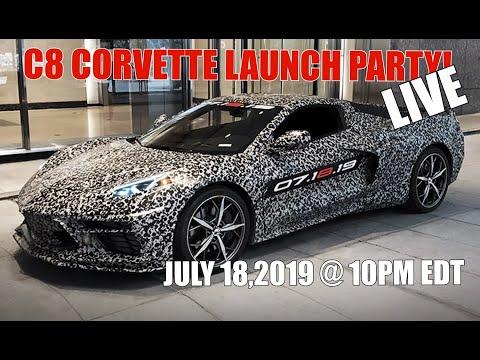 C8 CORVETTE REVEALED LIVE!  RIGHT NOW!