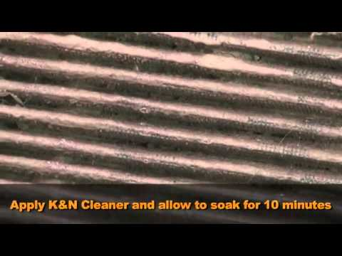 K&N Cotton Air Filter Cleaning & Re-oiling