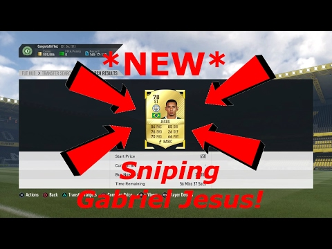 FIFA 17 - Sniping *NEW* Gabriel Jesus! - *INSANE* Trading Method! - Weekend League Qualifiers!