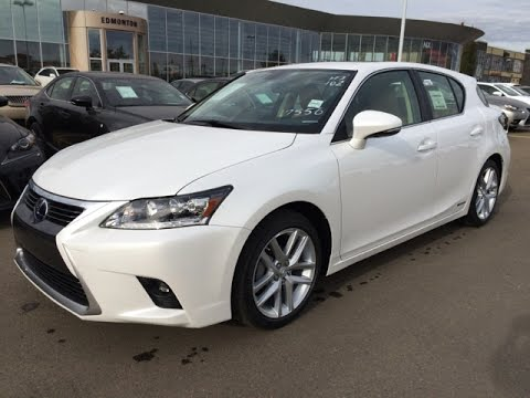 New White On Flaxen 2017 Lexus Ct 200h Fwd 4dr Hybrid Premium Package Review Alberta Canada