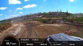 65км/ч. на МТЗ. Бизон-Трек-Шоу 2015. Камера Sony HDR-AS200