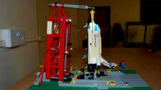 LEGO Space Shuttle Launch (stop motion)