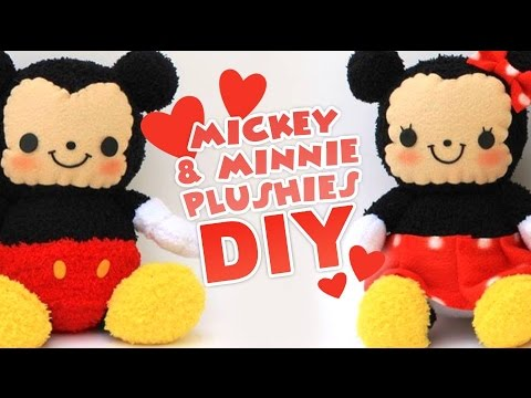 Diy Mickey Minnie Sock Plushes Valentines Collab Youtube