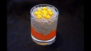 Chia Seeds Pudding with Mango - Puding od Chia Semenki sa Mangom