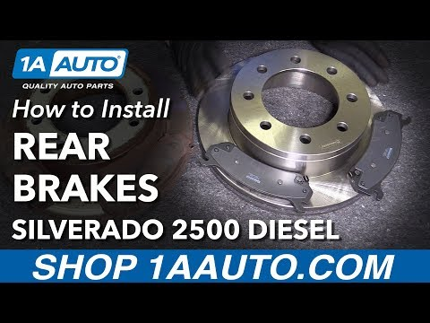 How to Install Replace Rear Brake Pads Rotors 2005-10 Chevy Siverado 2500 HD Diesel