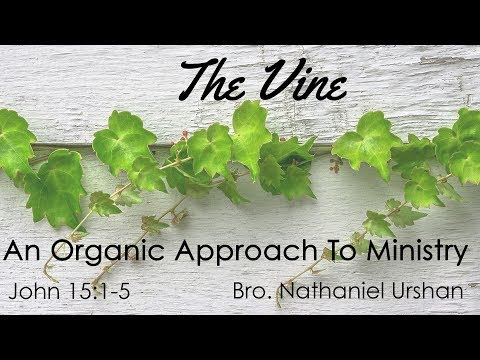 The Vine: An Organic Approach To Ministry – Bro. Nathaniel Urshan
