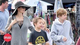 Angelina Jolie Goes to the Flea Market with the Kids | Daily Celebrity News | Splash TV