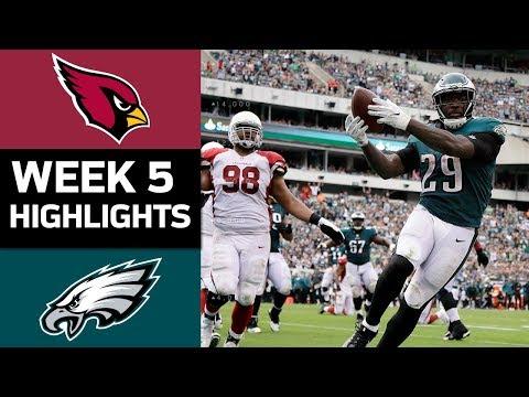 Cardinals vs. Eagles | NFL Week 5 Game Highlights