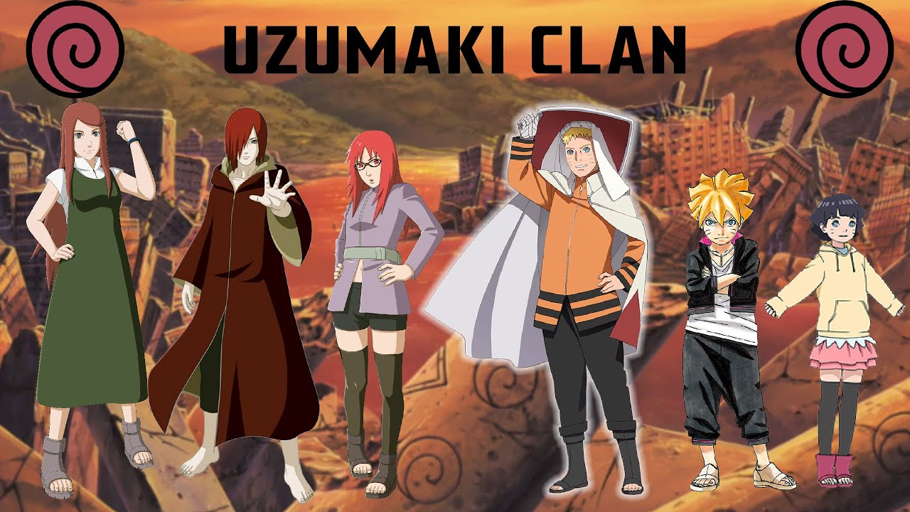 The Uzumaki Clan - All Known Members - YouTube