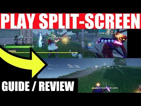 How To Play SPLIT SCREEN On Fortnite Battle Royale (PS4 , XBOX One)