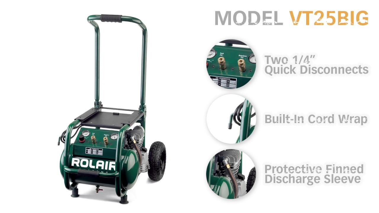 Rolair VT25BIG Hand Carry / Wheeled Compressor