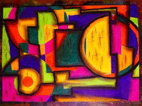 Very Easy Modern Cubism Abstract Painting | Contemporary Art Style