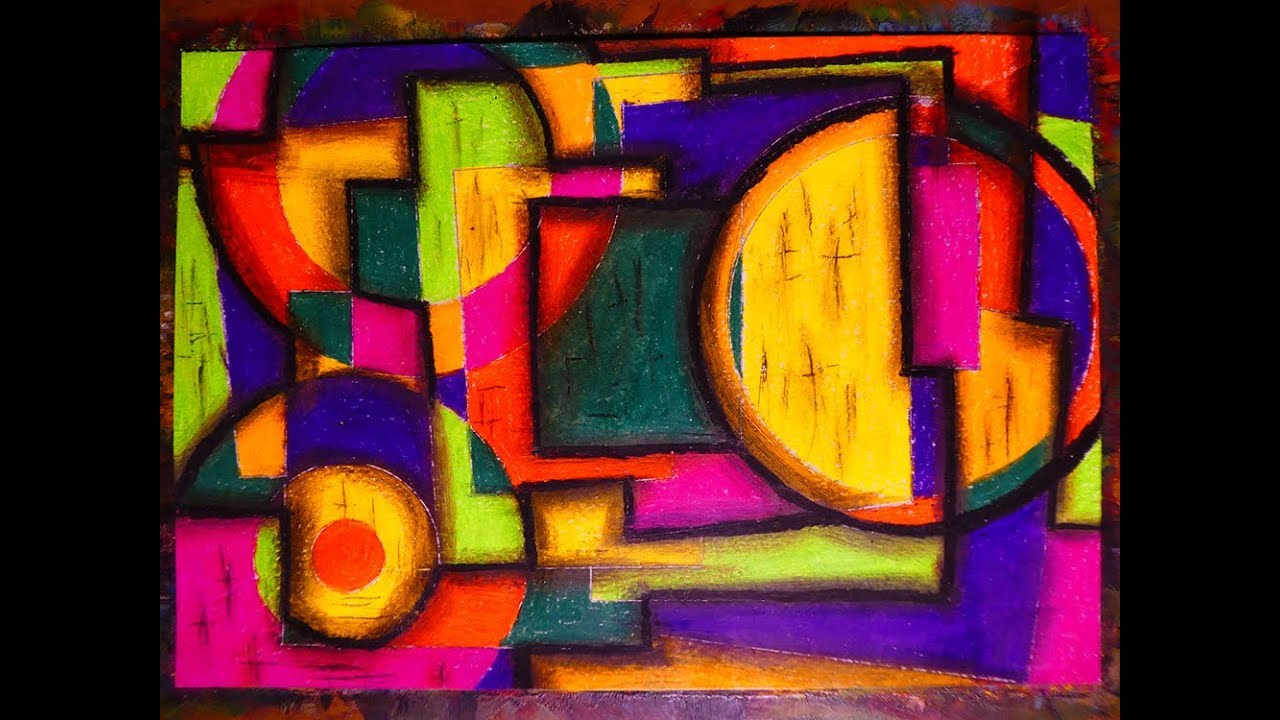 Very Easy Modern Cubism Abstract Painting Contemporary Art Style