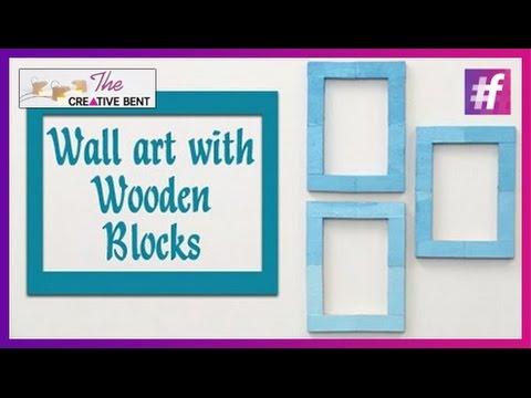 Easy Wall Art with Jenga Wood Blocks  DIY with Swati