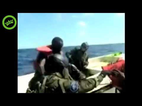 Somali Pirates attacking the wrong ship (French Navy ship lol)