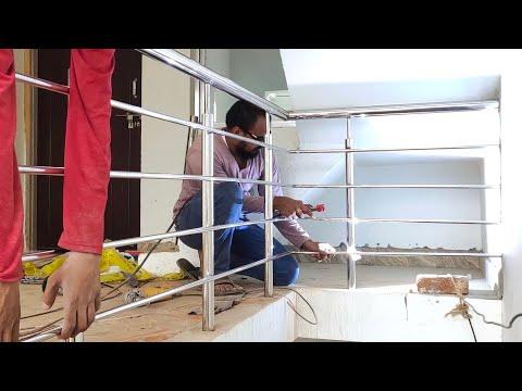 how-to-make-stair-step-side-balcony-railing-|-make-steel-balcony-railing-design-|-stainless-steel