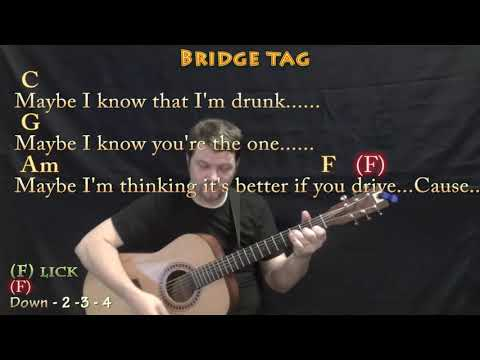 Girls Like You (Maroon 5) Guitar Cover Lesson with Chords/Lyrics - 8th Strum