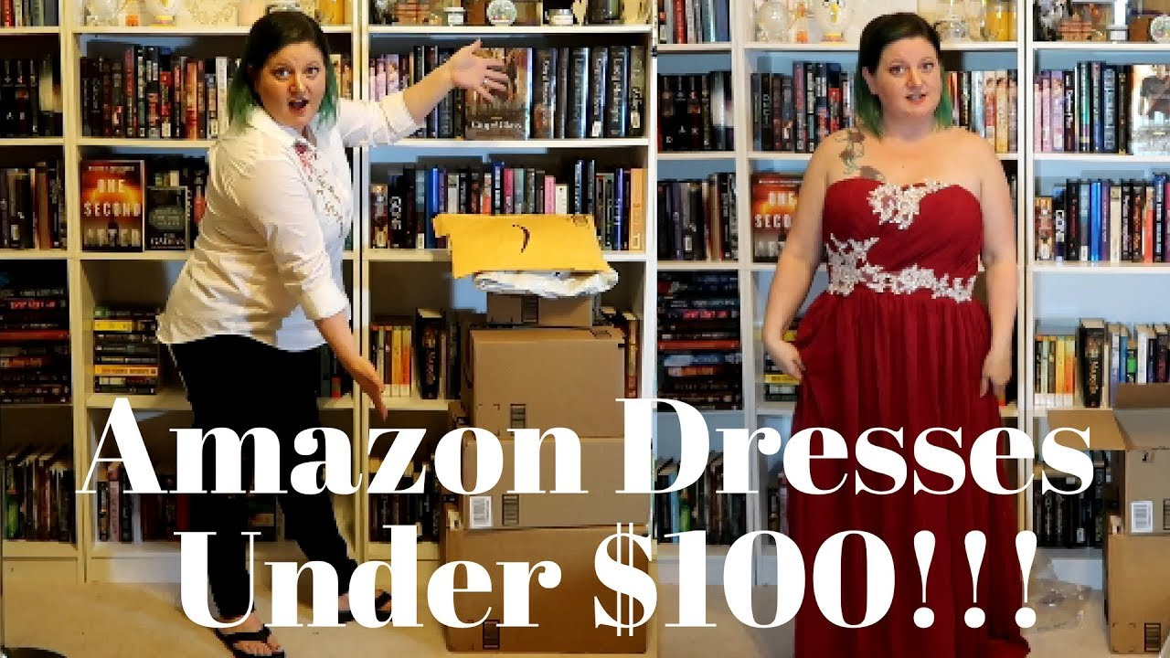 I Spent Over 700 On Amazon Try On Prom Dresses Under 100 Youtube