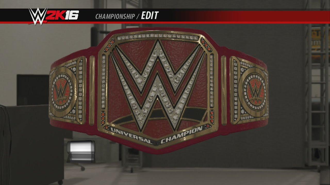 Wwe Universal Championship Wwe 2k16 Creations Custom