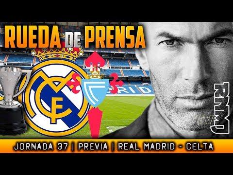 Rueda de prensa de Zidane  previa al Real Madrid - Celta