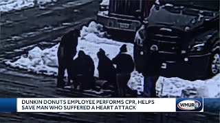 Dunkin' Donuts worker helps save man with CPR