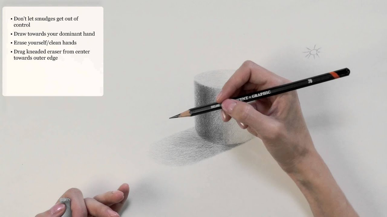 How to prevent smudges while using graphite pencils