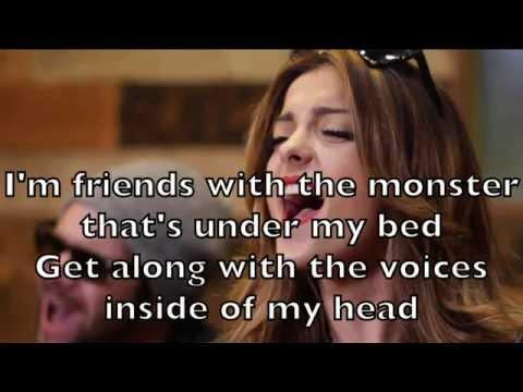 Bebe Rexha - Monster Under My Bed Karaoke Cover Backing Track + Lyrics Acoustic Instrumental