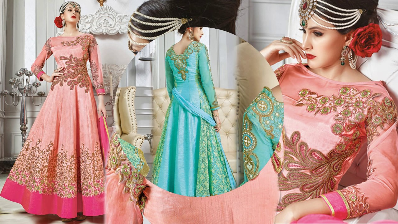 Latest Cape Pattern Anarkali Dress Designs: Indian Party Wear Long ...