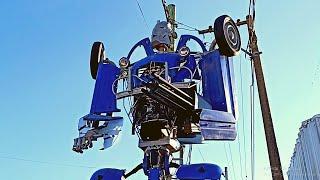 El PUEBLO con un ROBOT transformers GIGANTE | Lima, Provincia de Buenos Aires