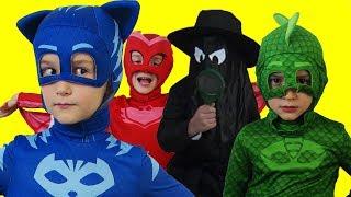 Герои в масках и Коробка Конфет! Приключения Давида! PJ маски и Динозавр для детей