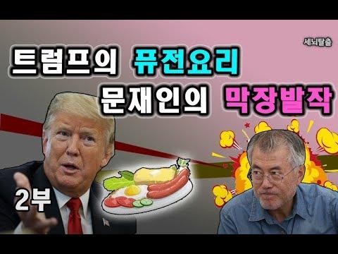 [세뇌탈출] 375탄 - 트럼프의 퓨전요리, 문재인의 막장발작 - 2부 (20190320)