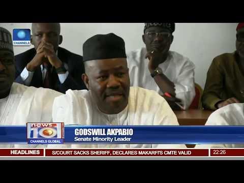 News@10: Senate President Swears In Ademola Adeleke As Senator 12/07/17 Pt 2