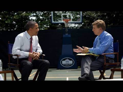 President Obama Talks Basketball with Marv Albert