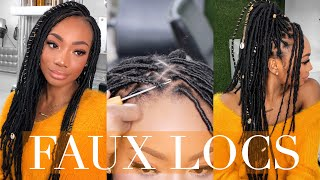 12 HOUR FAUX LOCS!   NATURAL HAIR PROTECTIVE STYLING!