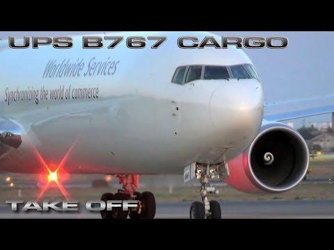 Cargo Boeing 767 UPS Take OFF VLC