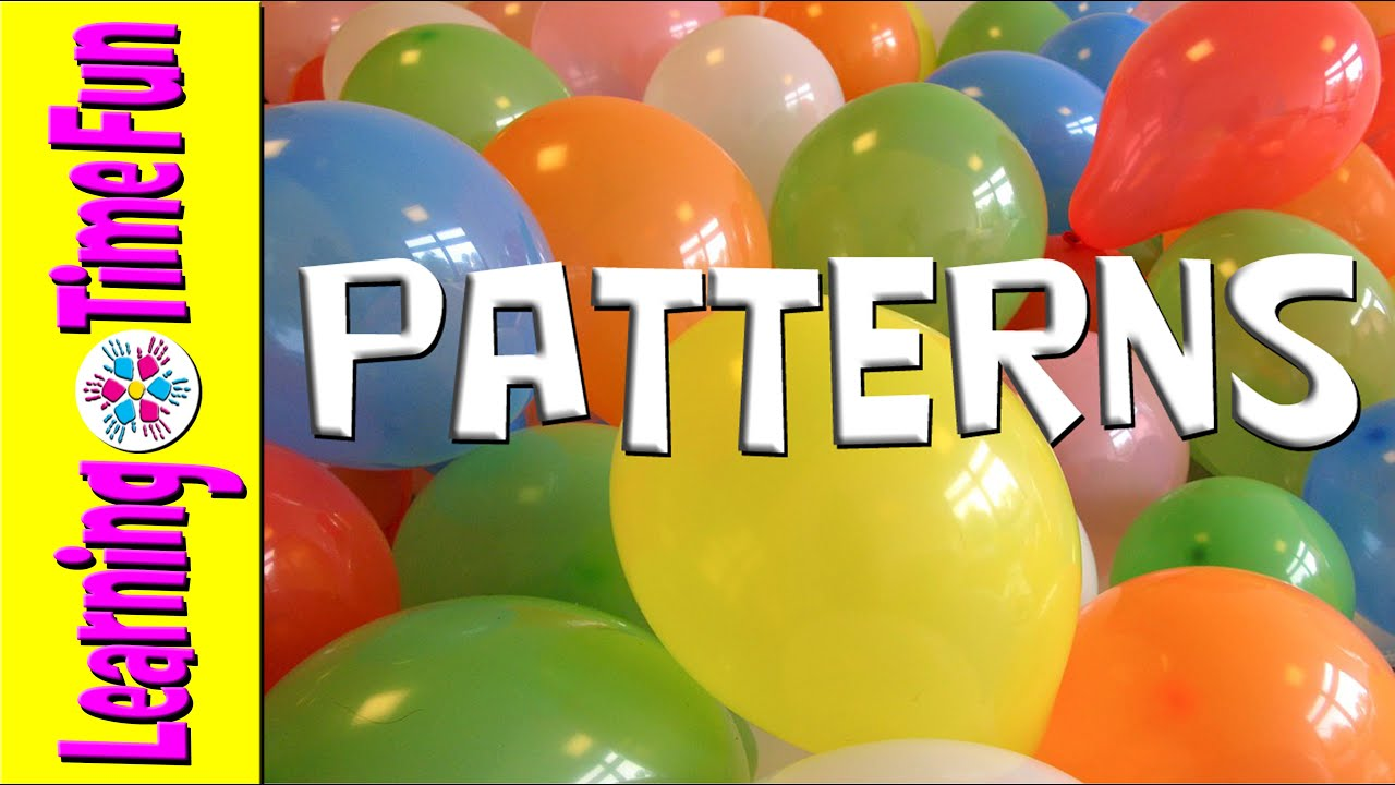 color patterns with balloons for preschool patterns for kids pre k preschool kindergarten esl - Color Patterns For Kids