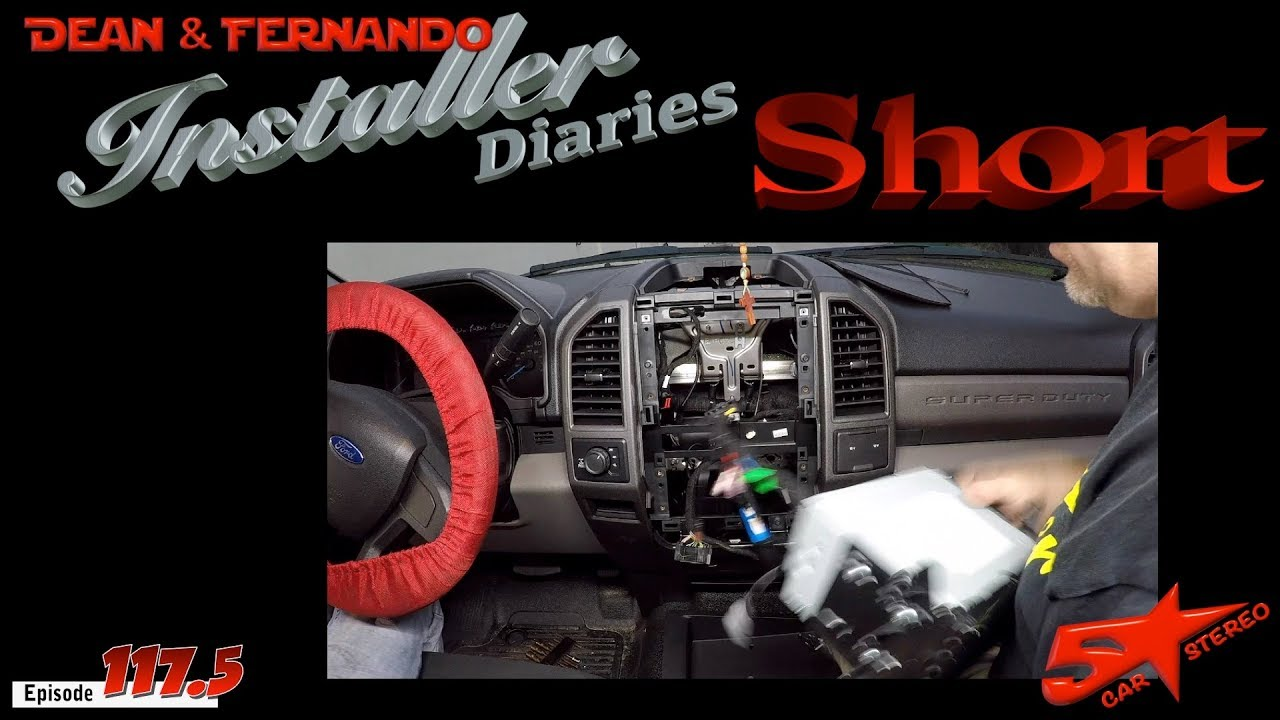 hight resolution of a quick kenwood radio install in a ford f250 with the pac kit installer diaries short 117 5