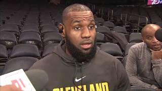 LeBron clarifies Knicks/Dennis Smith Jr talk, takes shot at Phil Jackson