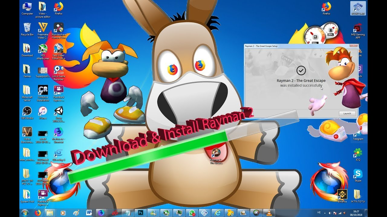 Rayman 2: the great escape full version game download.