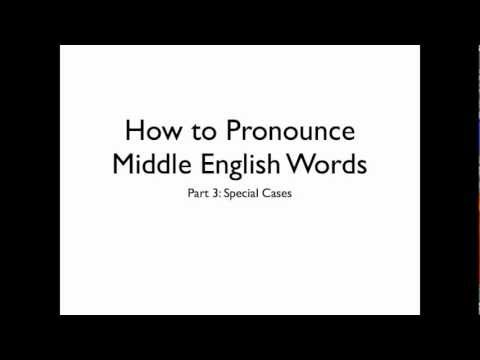 How To Speak Middle English: Special Characters