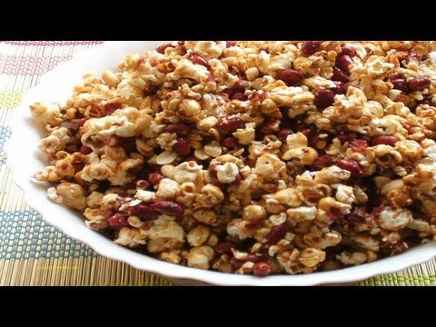 How To Make Caramel Popcorn With Roasted Peanuts