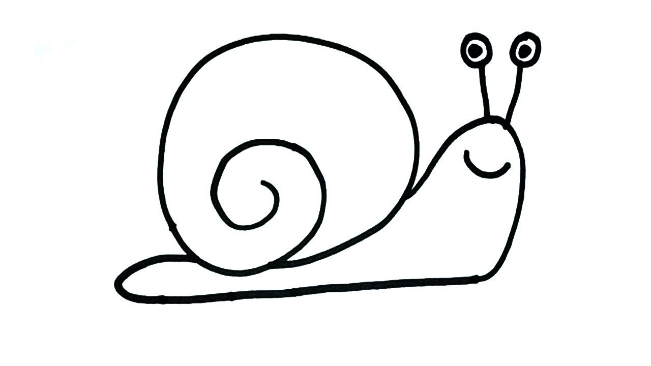 How To Draw Snail Drawing For Kids