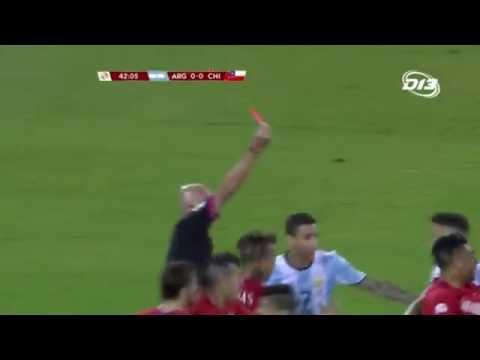 Marcos Rojo expulsado | Copa América Centenario HD