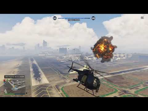 PS4   GTA 5 ONLINE   HOW TO AVOID FROM MISSILE BY USING FLARE GUN  