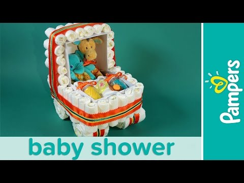 How to Make a Stroller Diaper Cake | Pampers Baby Shower Ideas