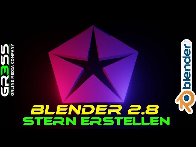Blender 2.8 Tutorial | Array Modifier | ★Stern oder Zahnrad★ erstellen.