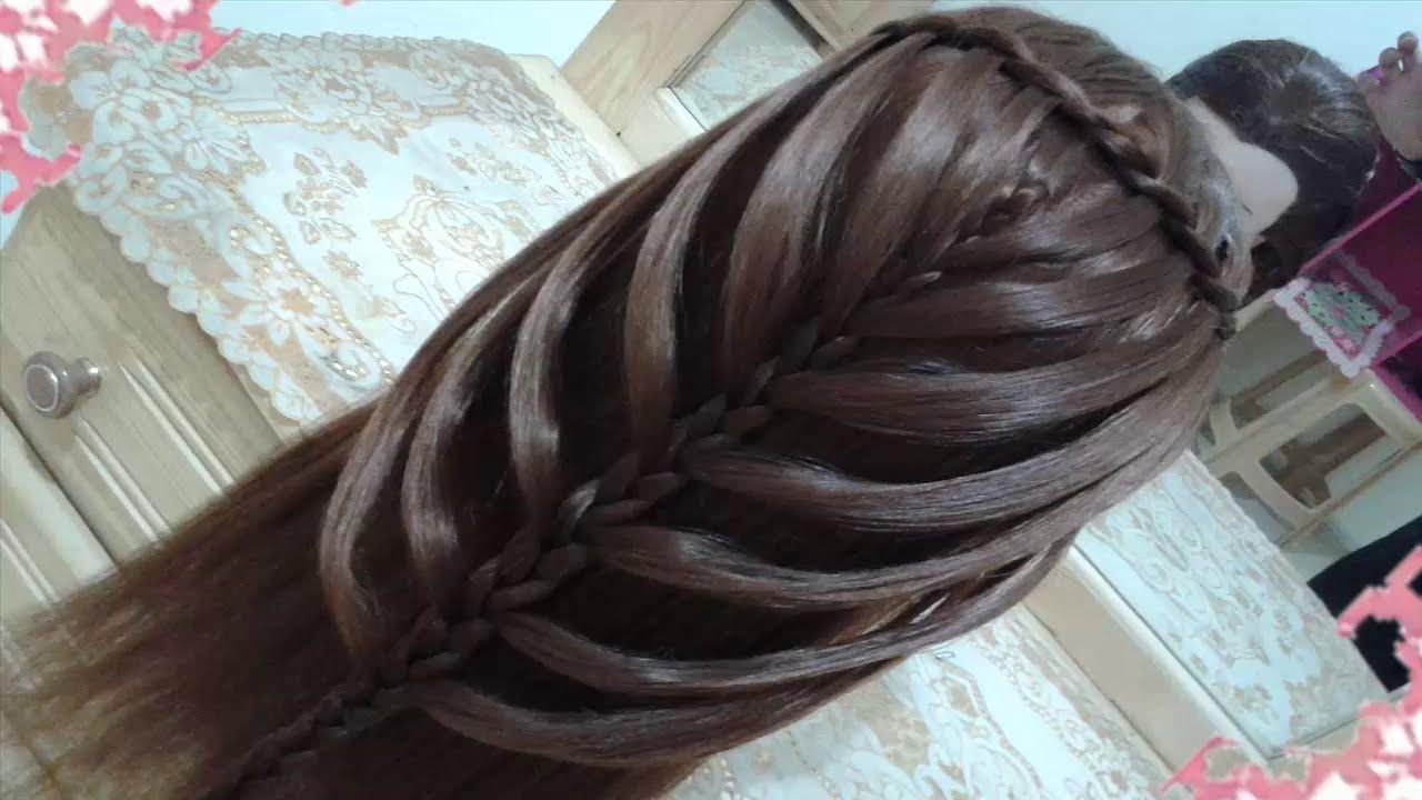 Peinados Sencillos Faciles Para Cabello Largo Bonitos Y Rapidos Con Trenzas Para Chica Mariposa 24 Youtube