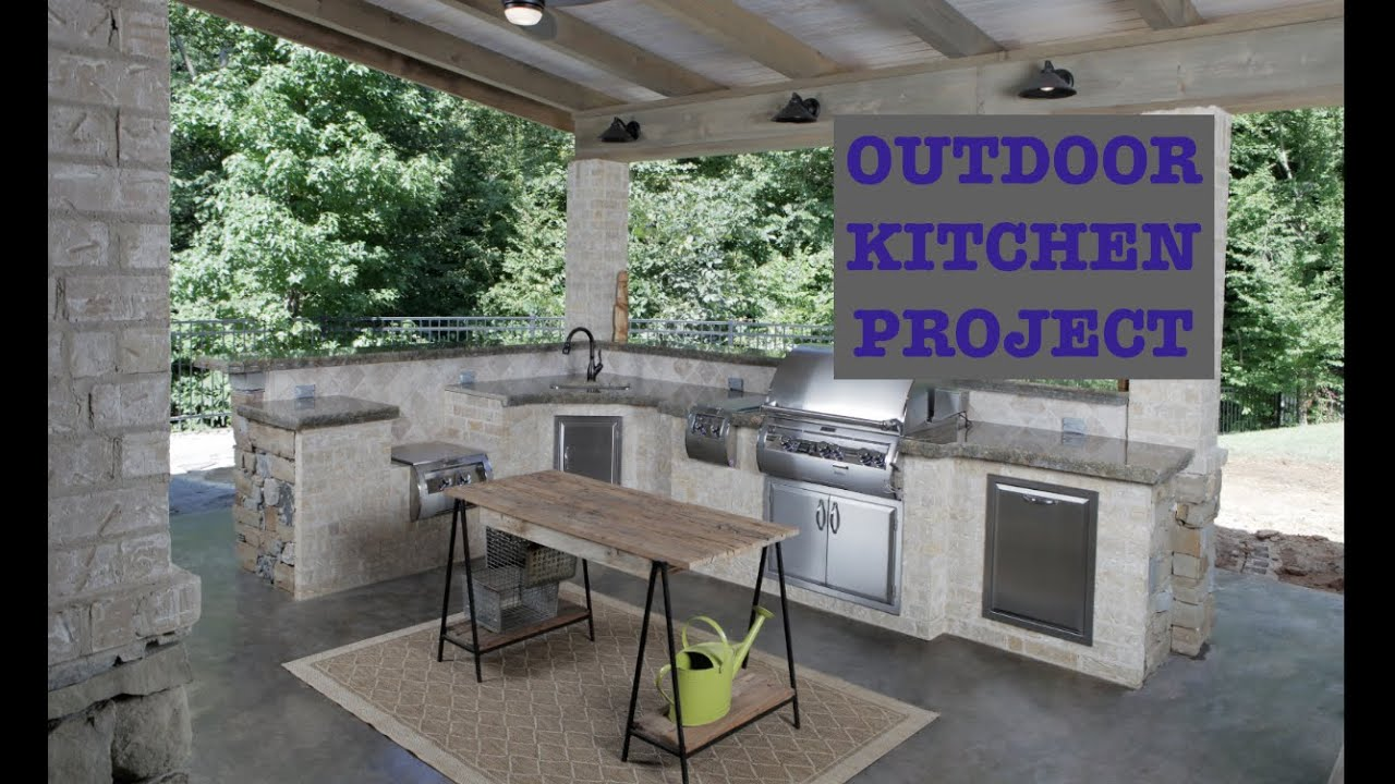 Building An Outdoor Kitchen  YouTube